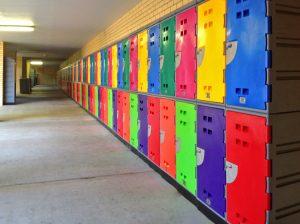 School Lockers Colourful